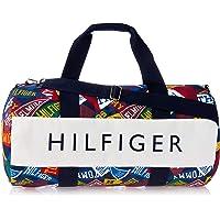 Tommy Hilfiger Unisex Iconic Jack Pennant Canvas Duffle Bag Iconic Jack Pennant Canvas Duffle Bag, Grey, One Size