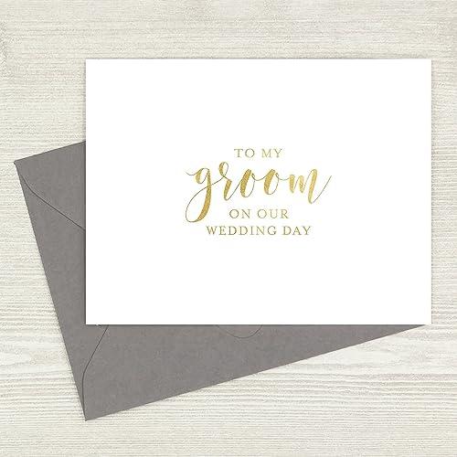 amazon com to my groom card card for husband wedding day card
