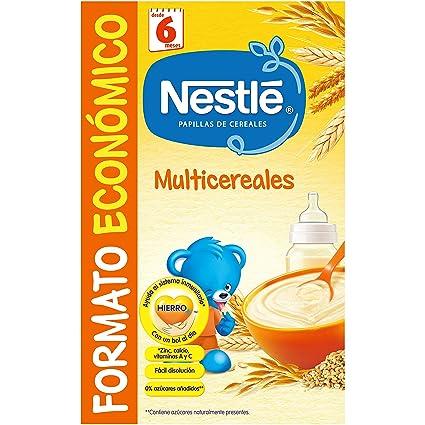 Nestlé Multicereales Papilla de Cereales Instantánea de Fácil Disolución - 500 g