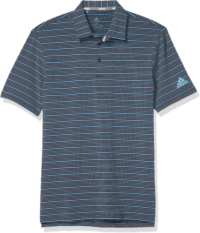 adidas Mens Ultimate365 Pencil Stripe Polo Shirt