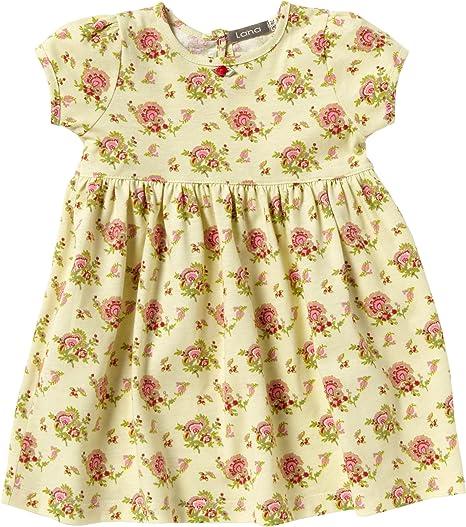 Lana - Vestido para niña amarillo de 100% algodón, talla: 86/92cm (18-3 años): Amazon.es: Bebé