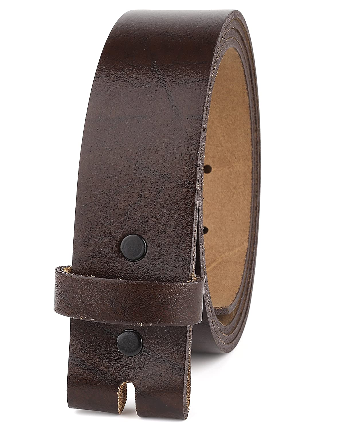Belt for Buckles 100% Top Grain One Piece Leather,up to Size 62, 1-1/2' Wide, Made in USA… 1-1/2 Wide