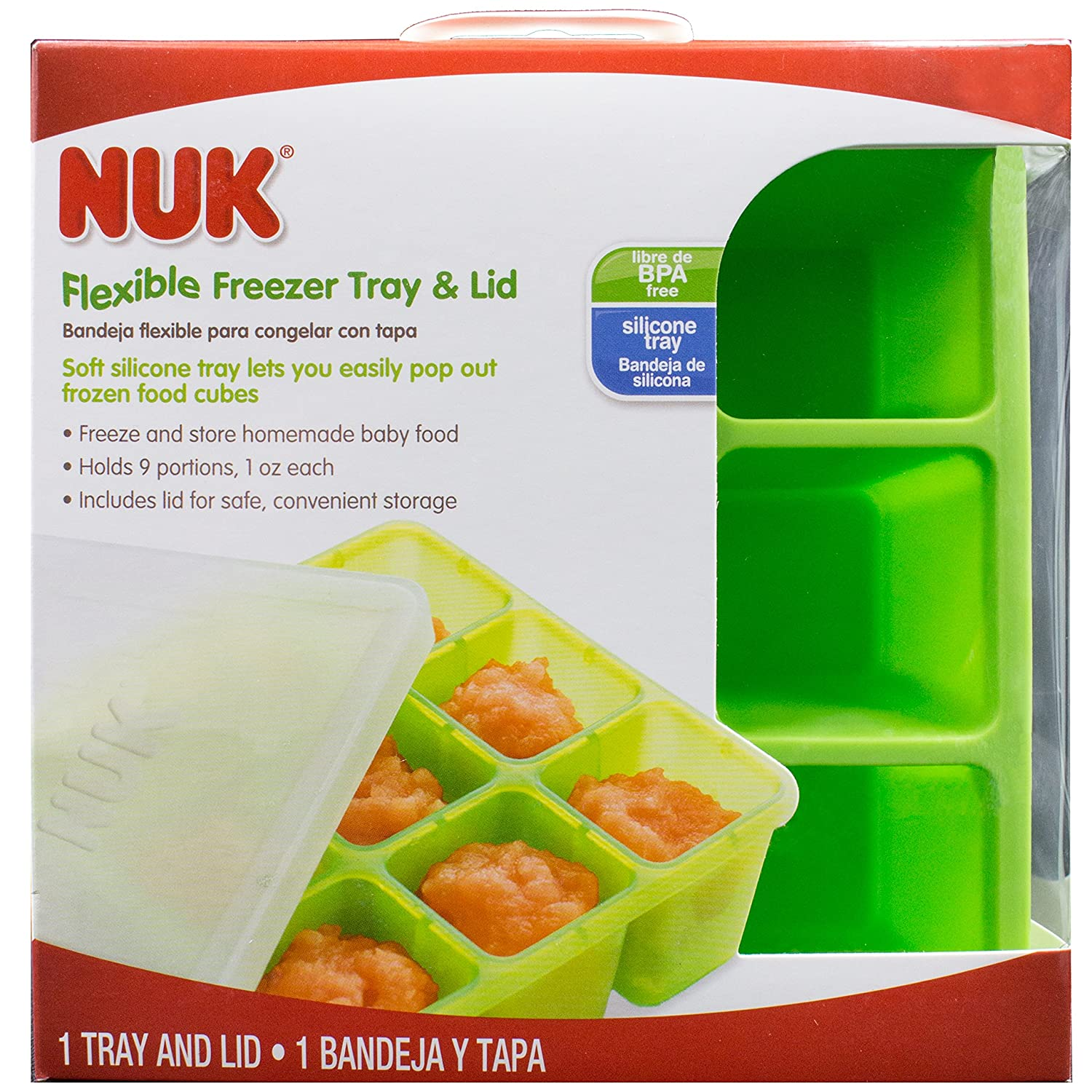Amazon.com : NUK Homemade Baby Food Flexible Freezer Tray and Lid Set : Baby