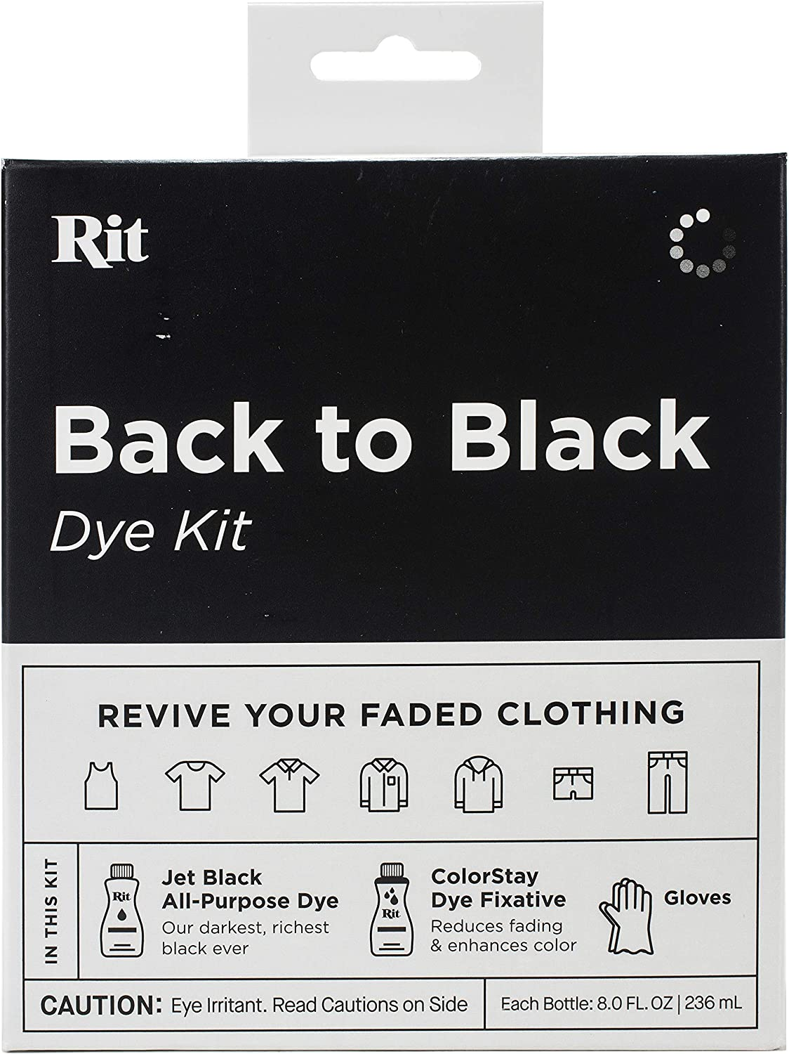 NAKOMA PRODUCTS RIT TIE DYE KIT BACK2BLACK, Back To Black