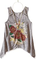 Beautees Girls' Tank Top with Necklace
