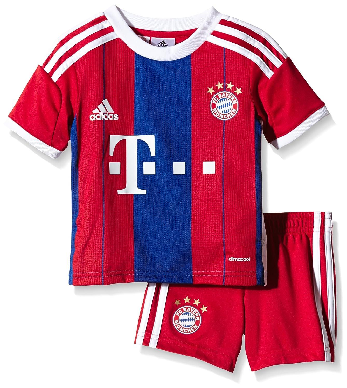 Adidas Kinder Trikot und Short FC Bayern Home Mini Kit