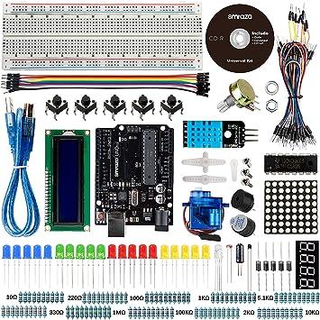 Compatible con Arduino UNO R3 Placa, Smraza UNO Project Basic ...