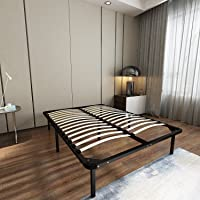 Homdox Bed Frames/Wooden Slats Support/Mattress Foundation/Platform Bed Frame/Box Spring Replacements (Full Size)