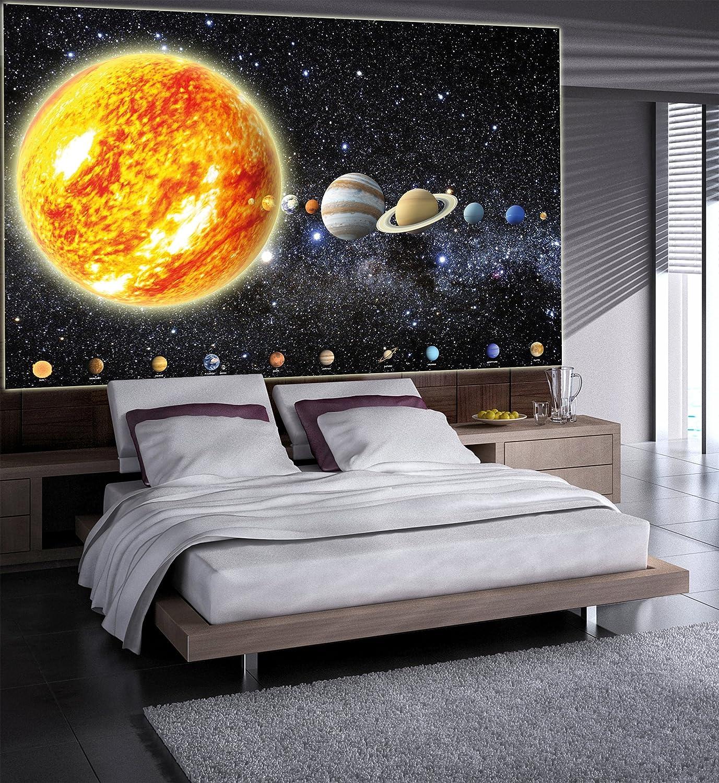 galaxie de lespace Terre Affiche de D/écoration murale de plan/ètes du syst/ème solaire Cosmos Galaxie espace univers tout le ciel 140 x 100 cm mur deco Poster mural Image by GREAT ART les /étoiles