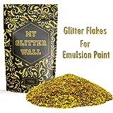 Oro 150g  - My Glitter Wall, glitter per emulsione con vernice, brillantini per decorazioni murali, perfetto per interni e esterni