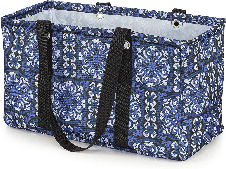 VP Home Jumbo Open Top Tote Bag (Mosaic Patchwork)