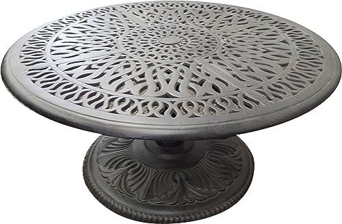 K B PATIO LD777PE-36 Elizabeth Pedestal Round Coffee Table
