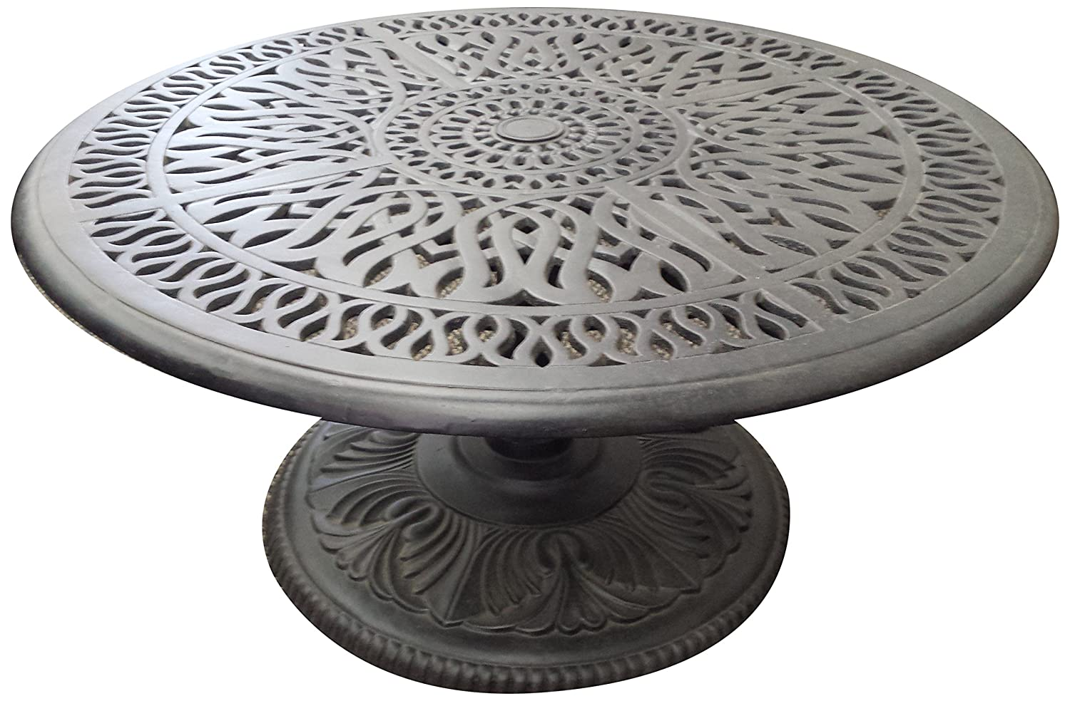 K B PATIO LD777PE-36 Elizabeth Pedestal Round Coffee Table, 36 , Antique Bronze