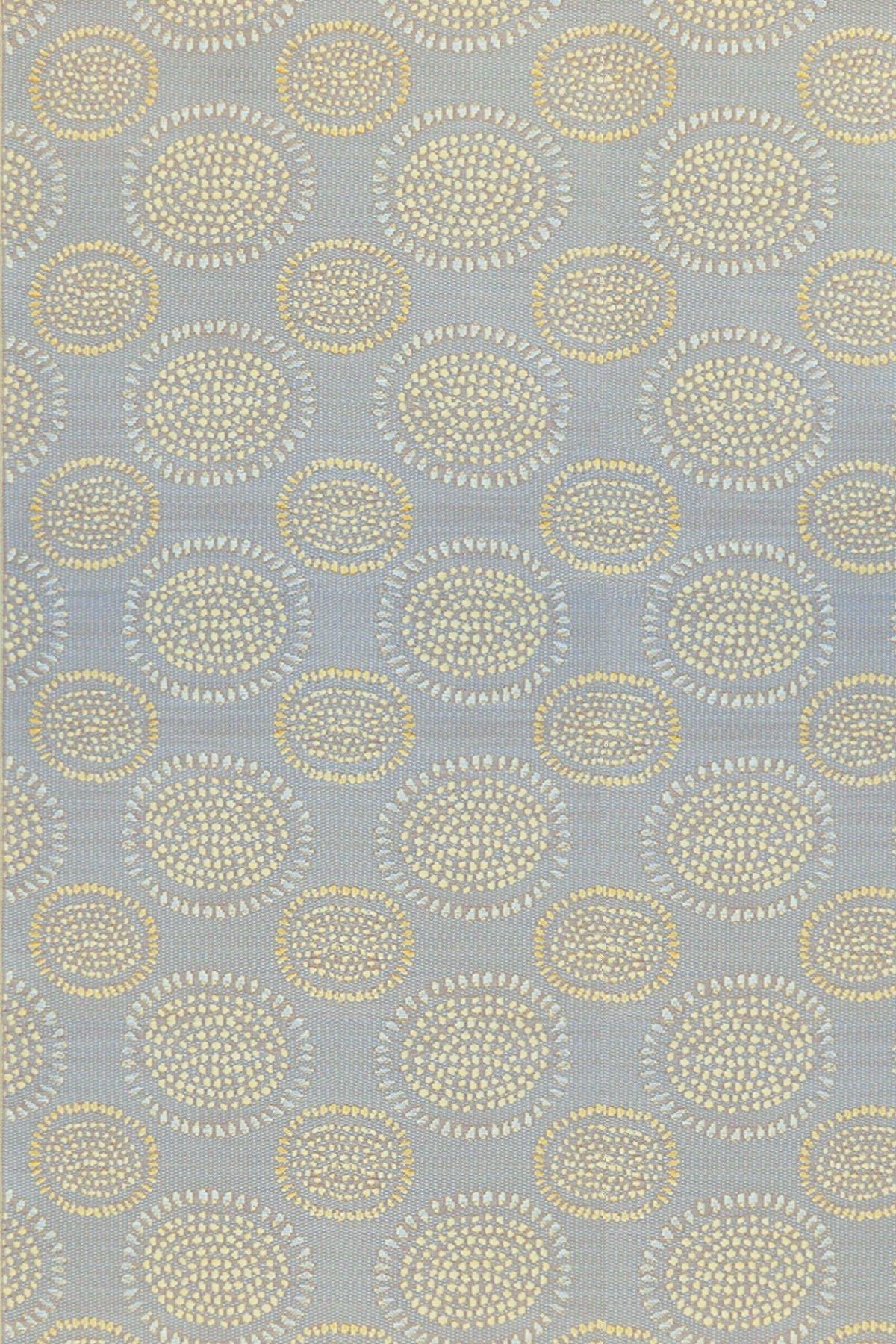 Mad Mats® Molly Indoor/Outdoor Floor Mat, 4 by 6-Feet, Grey Yellow