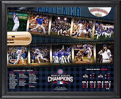f15268248 Chicago Cubs 2016 MLB World Series Champions Framed 16
