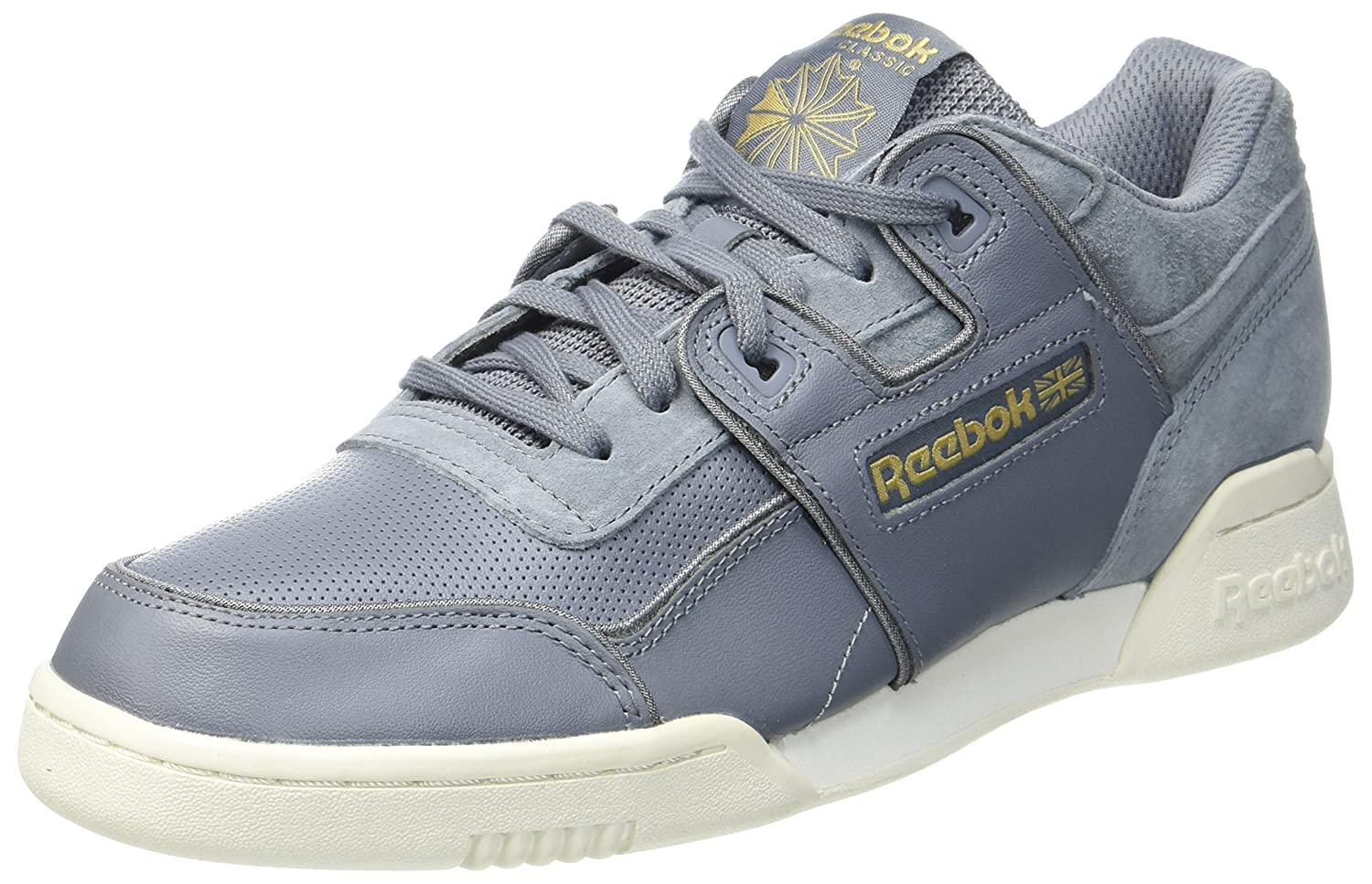 Reebok Herren Workout Plus Alr Gymnastikschuhe  45 EU|Grau (Asteroid Dust/Chalk/Baseball Grey/Rbk Brass)
