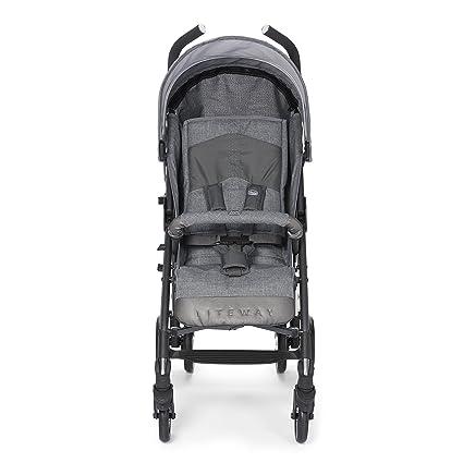 Chicco Lite Way2 - Silla de paseo, ligera y compacta, 7,5 kg, colección 2017, color gris vaquero