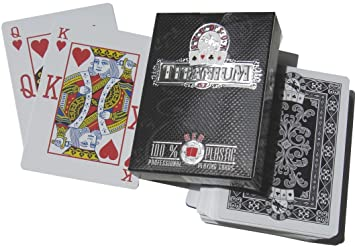 Spot Titanium - Poker Cartas de plastico 100%