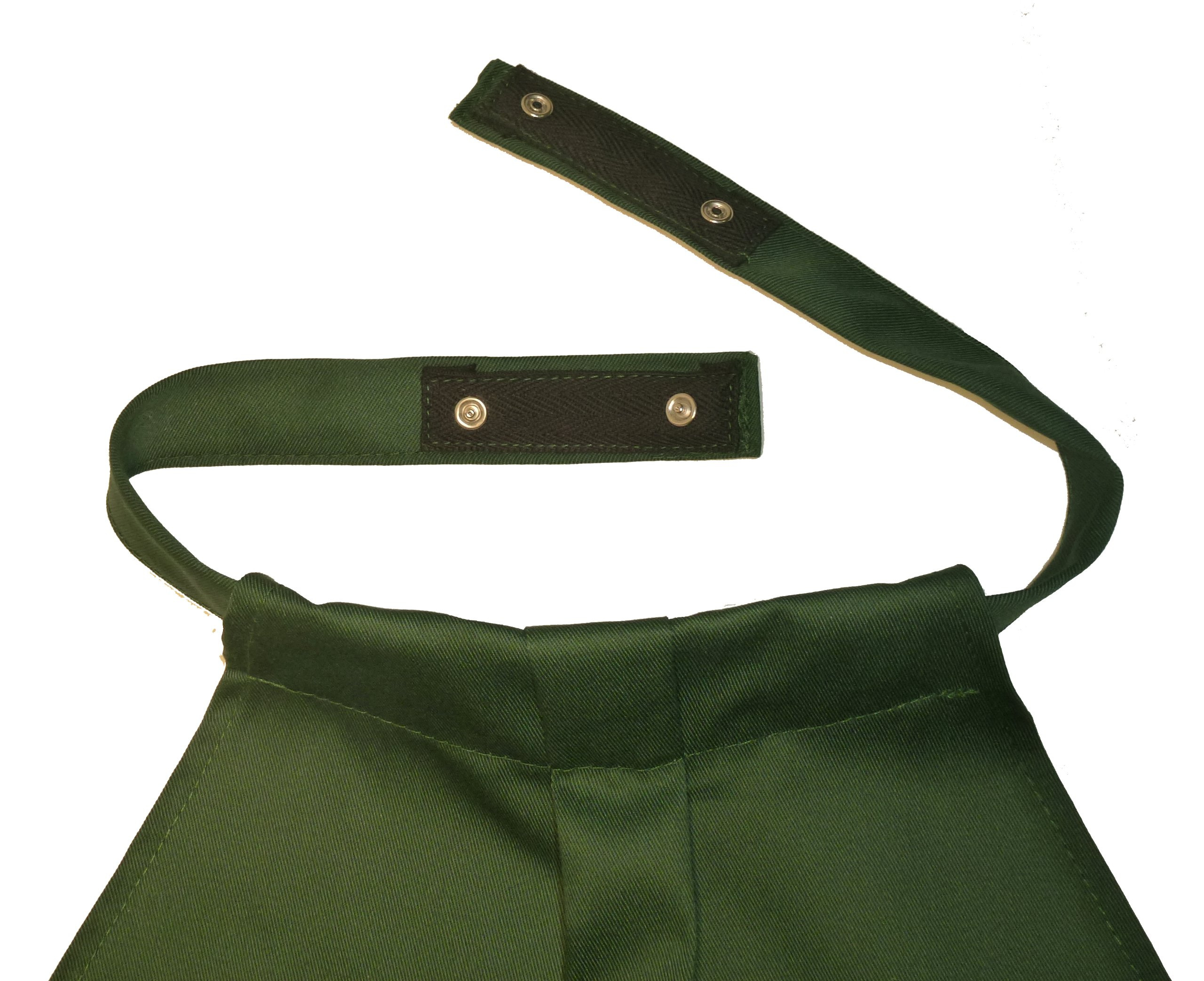 DinerWear Adult Bib Napkin at Your Neck - Hunter Green by DinerWear