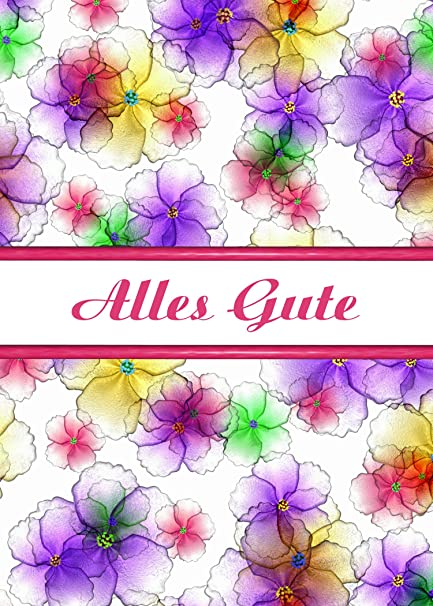 Amazon German Birthday Alles Gute Candy Flowers Greeting