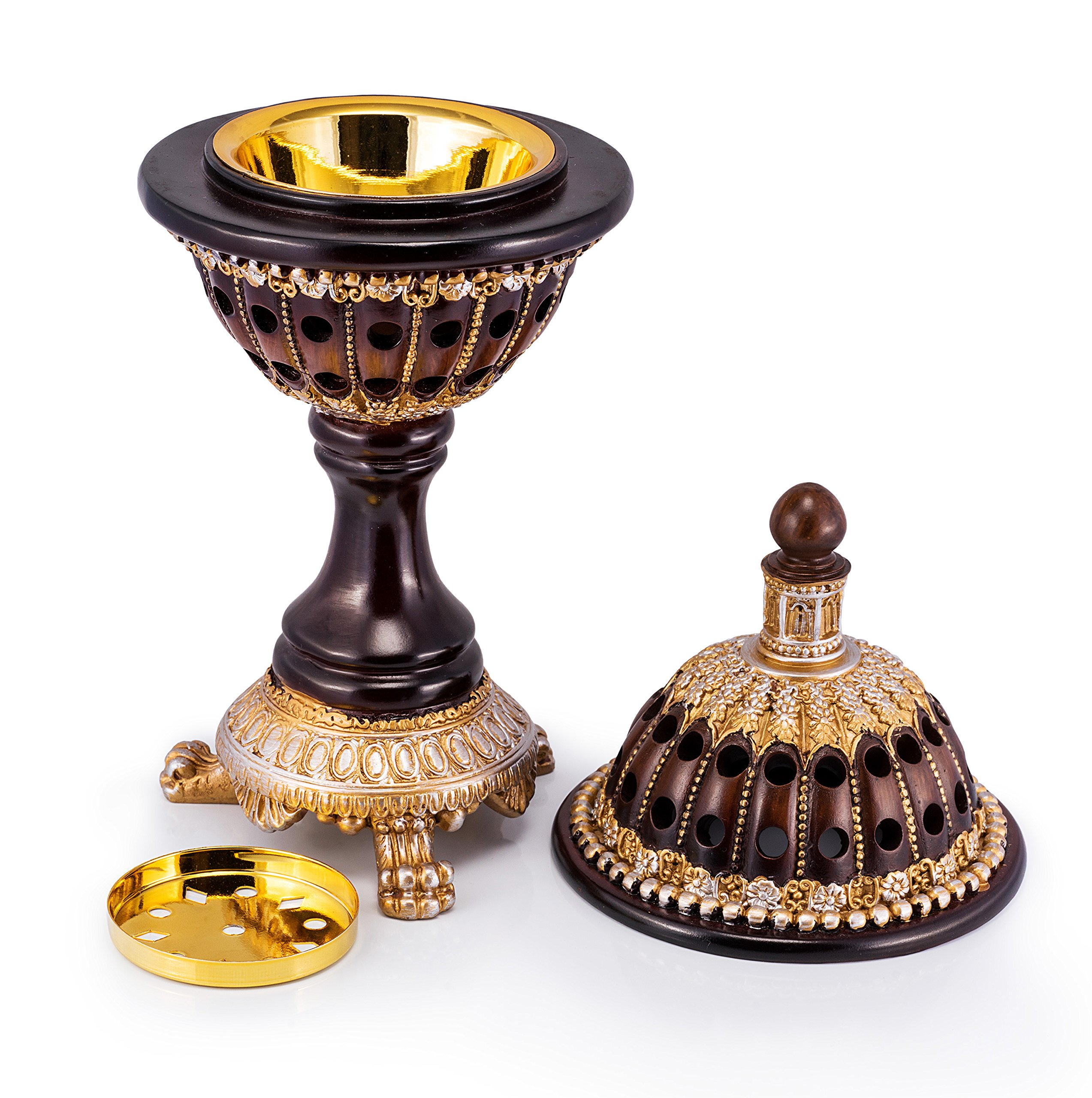 AM Incense Burner Frankincense Resin - Luxury Globe Charcoal Bakhoor Burners For Office & Home Decor by AM (Image #5)