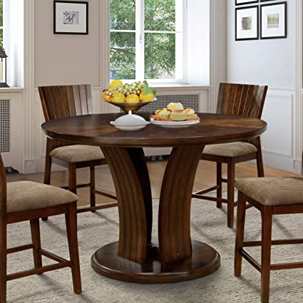 Stupendous Amazon Com Furniture Of America Crezena Flared Pedestal Gmtry Best Dining Table And Chair Ideas Images Gmtryco