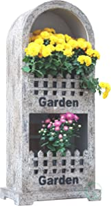 Gardenised Decorative Wall or Floor Garden Planter for Indoor or Outdoor Plants, Antique Brown
