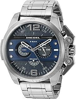 Diesel Advanced - Reloj análogico de cuarzo con correa de acero inoxidable para hombre, color gris…