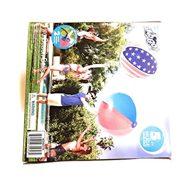 H2O Huge 5 FEET Beach Ball, Set of Two: Toys & Games