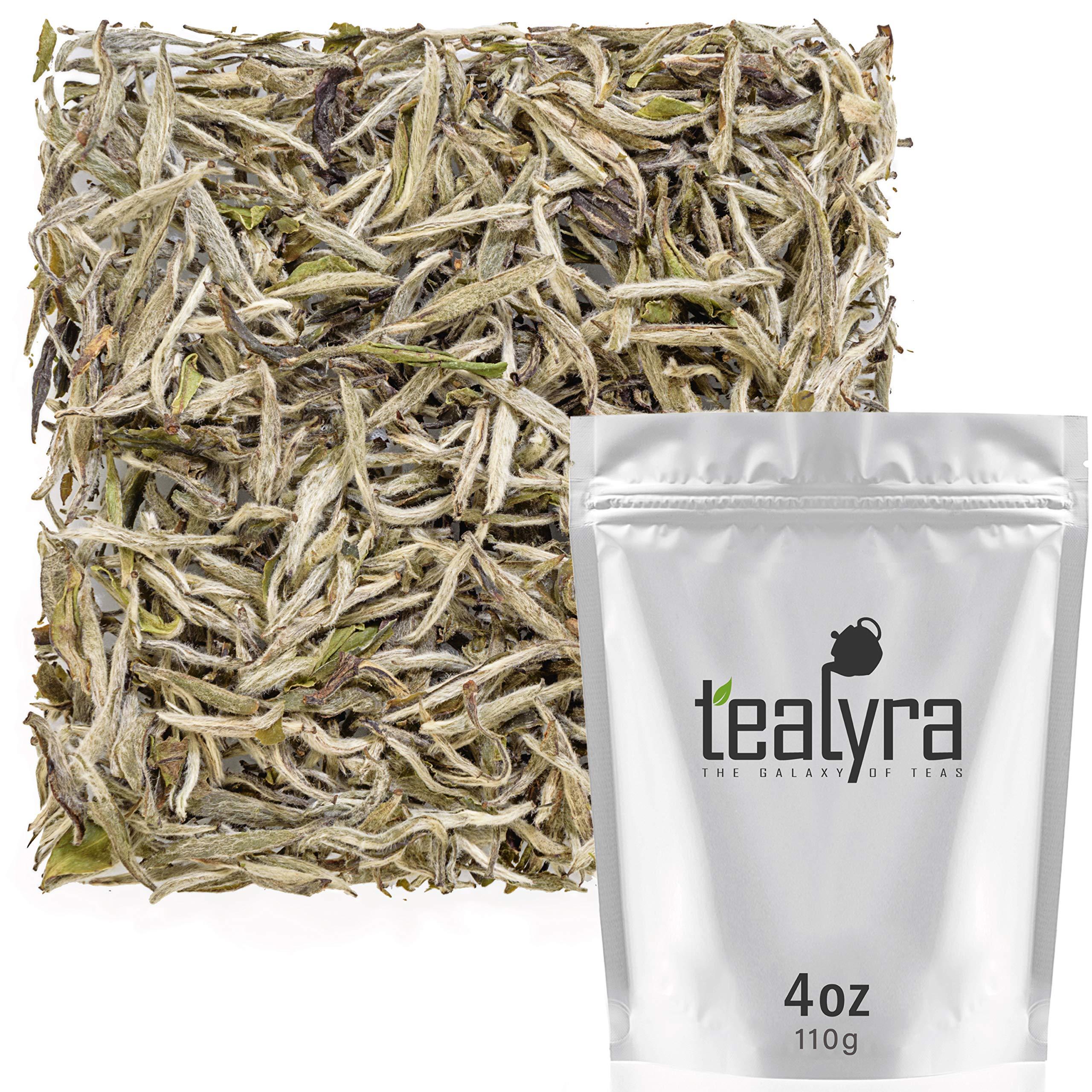 Tealyra - Superfine Silver Needle - Bai Hao Yin Zhen - White Tea Loose Leaf Tea - Highest grade of Best Chinese White Tea Leaves - Organically Grown in Fujian - Caffeine Level Low - 110g (4-ounce)