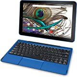 """2018 RCA Viking Pro 2-in-1 10.1"""" Touchscreen High Performance Tablet Laptop PC, Intel Quad-Core Processor, 1G RAM, 32GB HDD, Detachable Keyboard, Webcam, Android 5.0 Lollipop, Blue"""