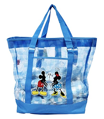 Amazon.com: Disney Mickey and Minnie Mouse Large Mesh Beach Tote ...