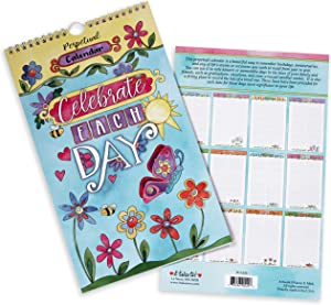 """it takes two Perpetual Calendar for Birthdays, Anniversaries, Special Events and Dates - """"Celebrate Each Day"""" - Floral Calendar"""