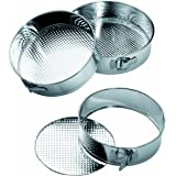 Premier Housewares Spring Form Cake Tins, Stainless Steel - Set of 3