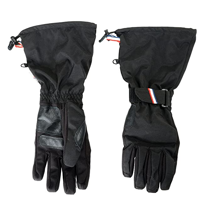 8363a1c0e Moncler Grenoble Black Men s Ski Gloves Sz M  Amazon.ca  Clothing ...