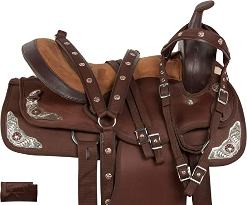 Acerugs Texas Silver Western Pleasure Trail Show Horse Barrel Saddle TACK Set Comfy