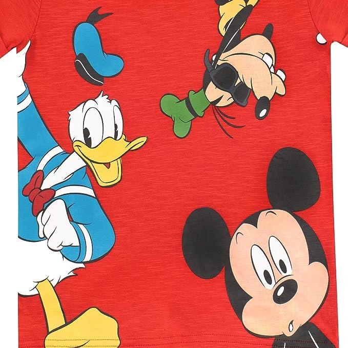 Disney Camiseta para niño Mickey Mouse el Pato Donald y Goofy: Amazon.es: Ropa y accesorios