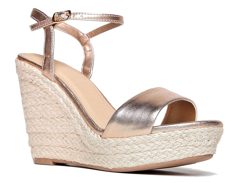 Ankle Strap Platform Wedge Sandal – Casual Open Toe High Heel Shoe B072KFNDCS 8.5 B(M) US|Penny