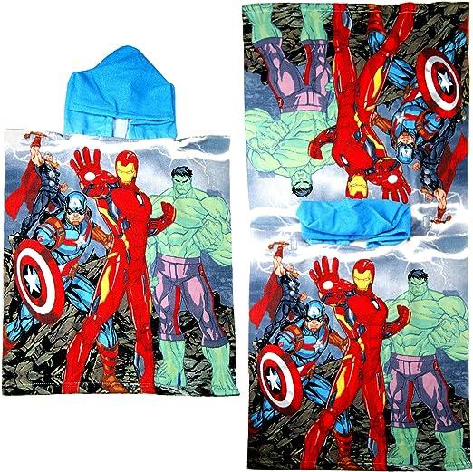 Marvel Los Vengadores ni/ños Poncho Toalla
