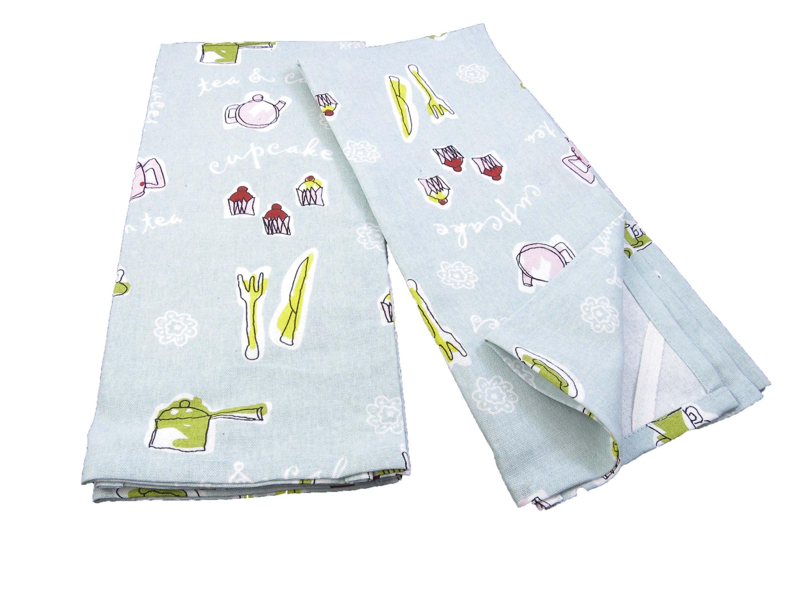 India Overseas Cupcake Kitchen Towels, Set of 2