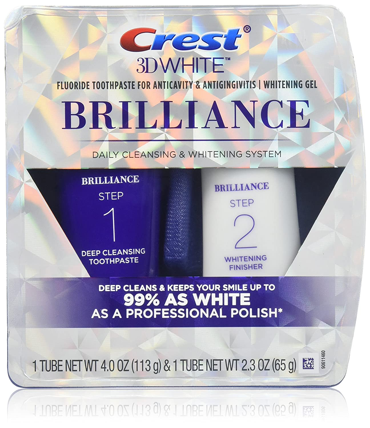 Crest Brilliance Daily Cleasning Toothpaste And Whitening Gel System - 4 Oz