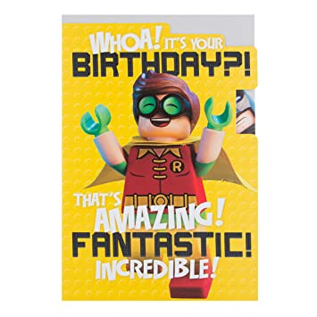 Hallmark Lego Batman Medium Fantastic Birthday Card Amazon