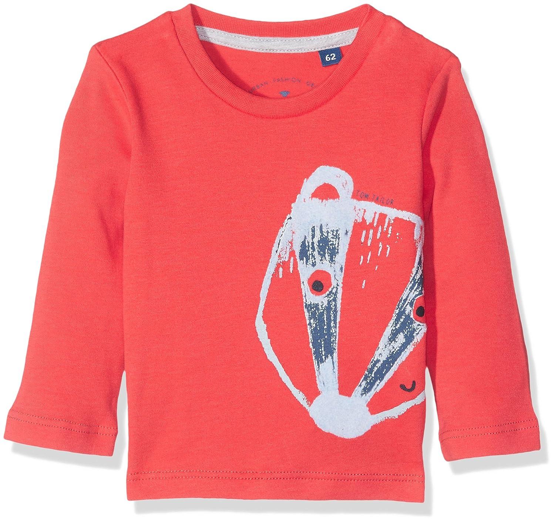 TOM TAILOR Baby-Jungen Langarmshirt T-Shirt with Flock Print TOM TAILOR Kids 10376200022