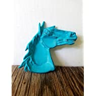 Turquoise Blue Southwestern Horse Trinket Dish – Men's Western Home Decor – Unique Rustic Office Organizer