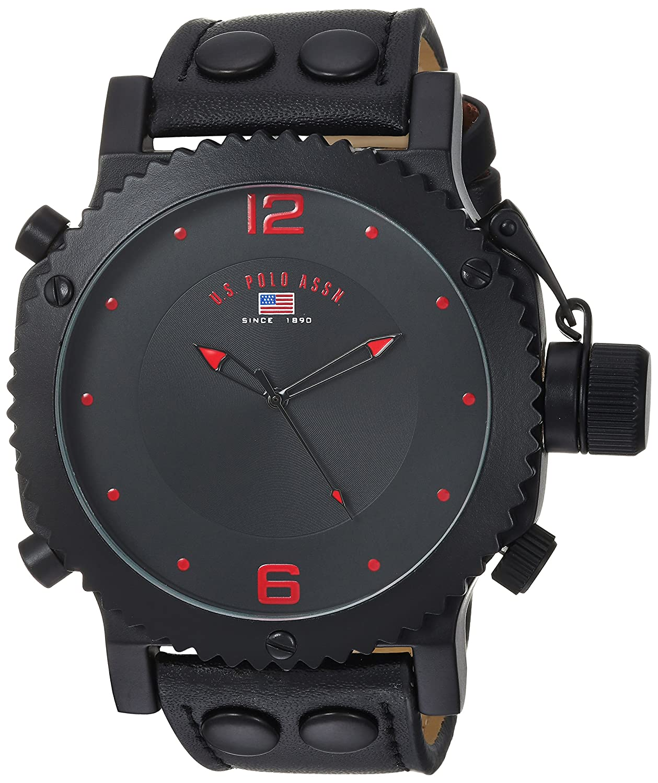 b03a9ef63c6 U.S. Polo Assn. Classic Men s US4023 Watch with Black Leather Band ...