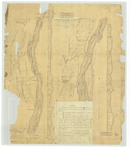 Amazon.com: 18 x 24 Canvas 1857 New York Old Nautical map Drawing ...