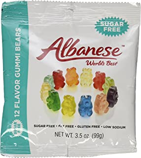 product image for Albanese Sugar Free 12 Flavor Gummi Bears 3.5 Ounce Pack of 6