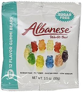 Albanese Sugar Free 12 Flavor Gummi Bears 3.5 Ounce Pack of 6