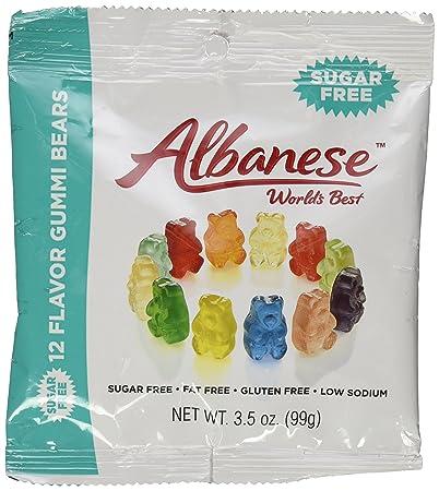 amazon com albanese sugar free 12 flavor gummi bears 3 5 ounce