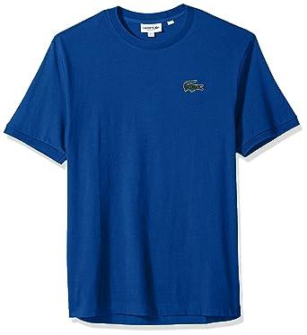 d635b7b0 Lacoste Men's Short Sleeve Vintage Croc Jersey Regular Fit T-Shirt, TH3246    Amazon.com